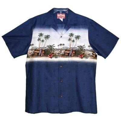 Classic blue aloha shirt