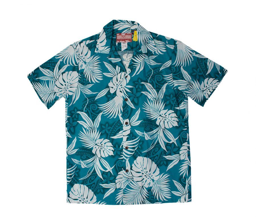 Aloha Shirt 3 Light Blue Floral