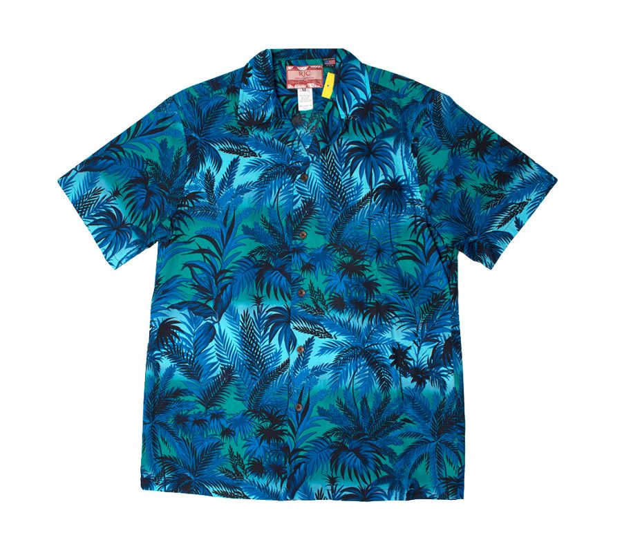 Aloha Shirt Blue Palms