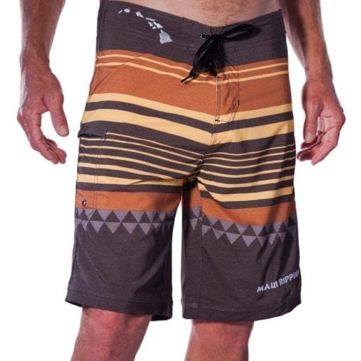 HONOLUA BOARD SHORT STRIPE FRONT