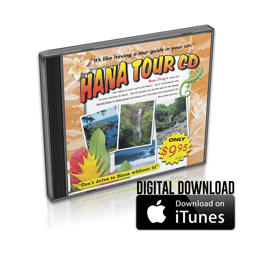 Road To Hana Guided Tour CD - by Boss Frog's