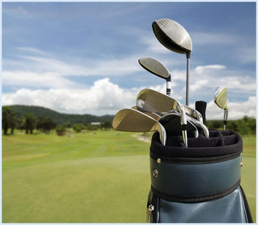 Golf club rentals from Boss Frog's