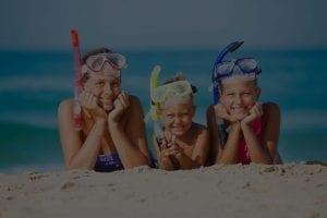 Maui snorkeling children