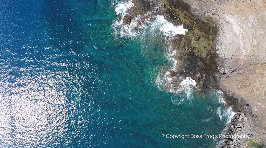 Reef from above at Coral Gardens Maui