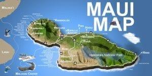 3D Map of Maui