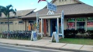 Kihei bike rentals. Central Kihei Snorkel Rentals Boss Frog's store