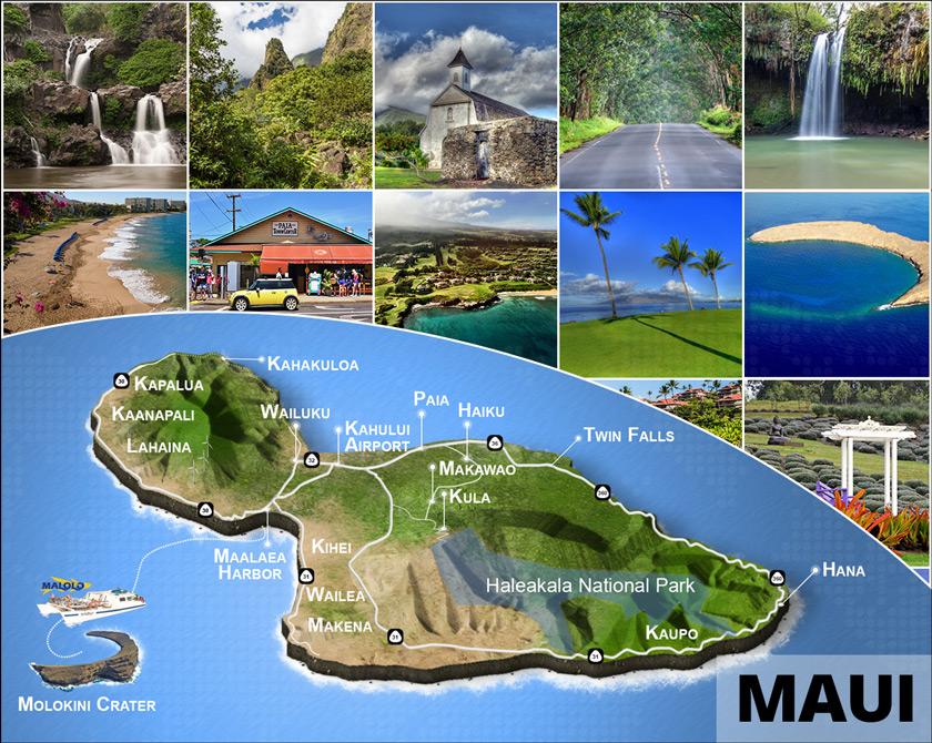 3D Maui Island Map