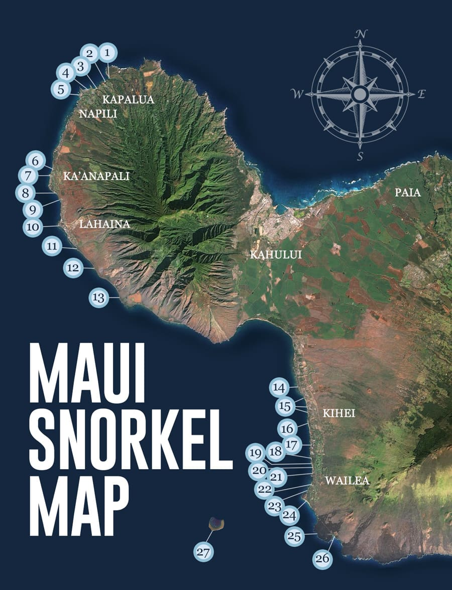 Maui Traffic Map.25 Best Maui Snorkeling Spots Beach Guide Videos Photos