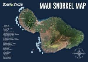 Maui Snorkeling & Beach Map