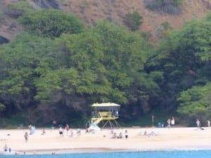 Makena Big Beach lifeguard stand