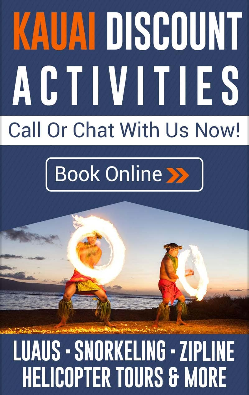 Kauai Discount Activities - Luau, Snorkeling, Zipline Specials