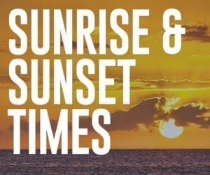 Maui Sunrise and Sunset Times