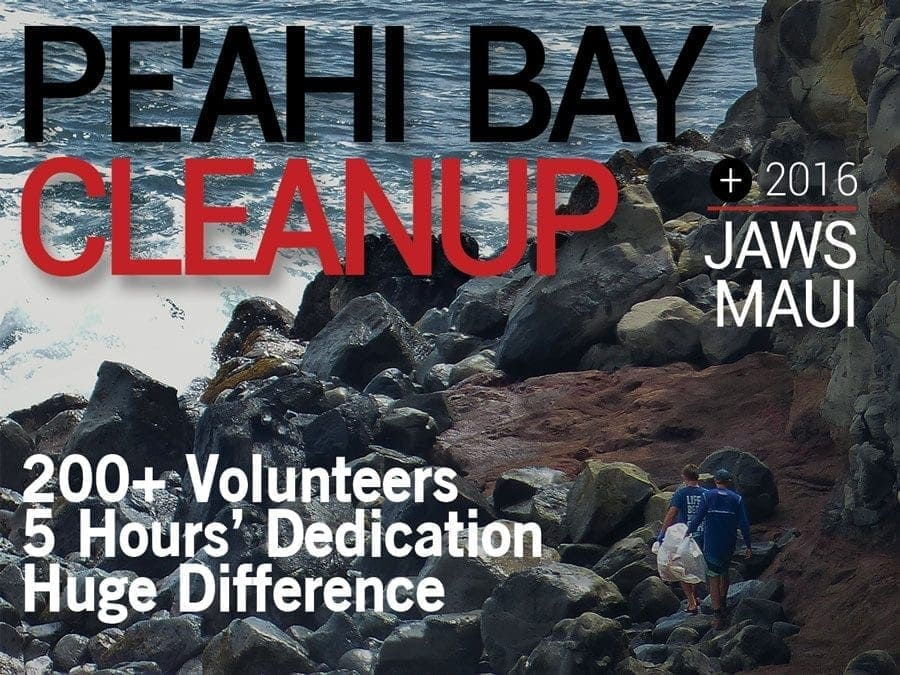 Jaws Maui – Pe'ahi Bay Cleanup, May 2016