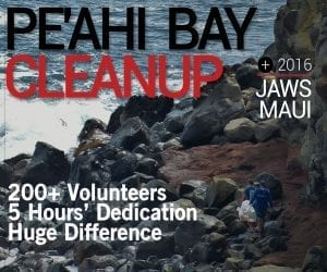 Peahi Bay Cleanup - Jaws Maui 2016