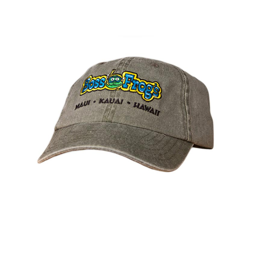 Boss Frog's Hat Green with Color Logo