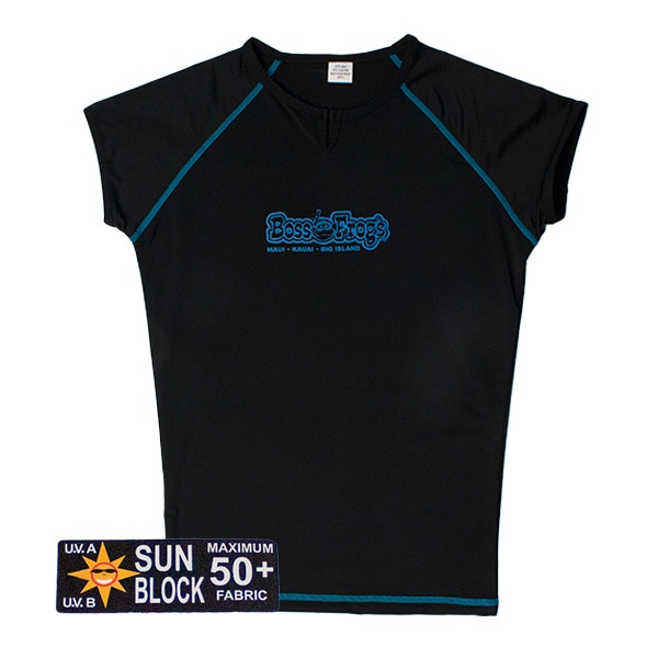 Rash Guard Black With Blue Seems