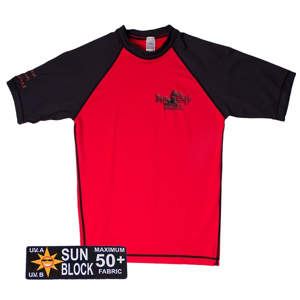 Rash Guard Red With Black Short Sleeve