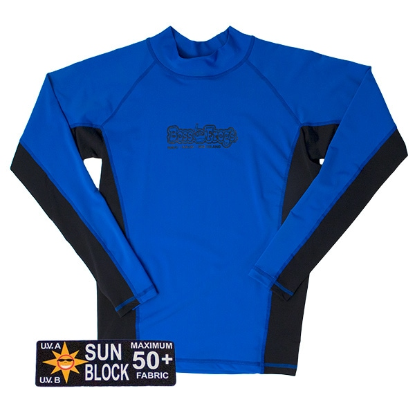 Rash Guard Blue Black Long Sleeve