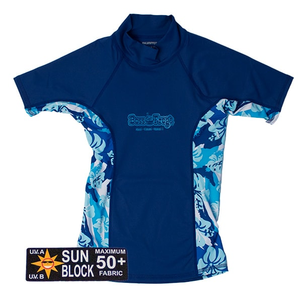 Rash Guard Blue Floral