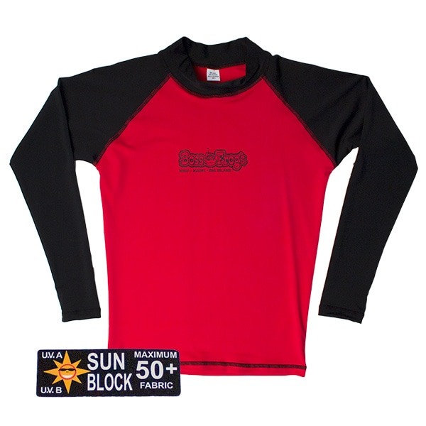Boss Frogs Red Black Long Sleeve Rashb Guard