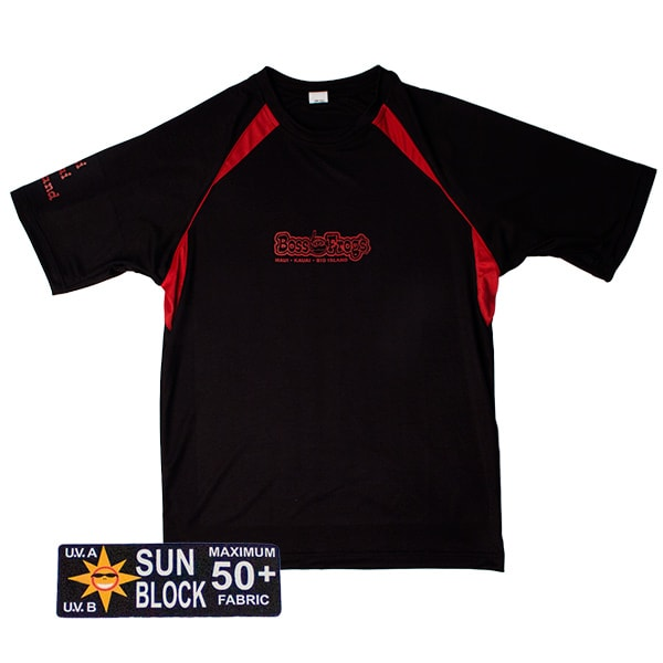 Rash Guard Black With Red