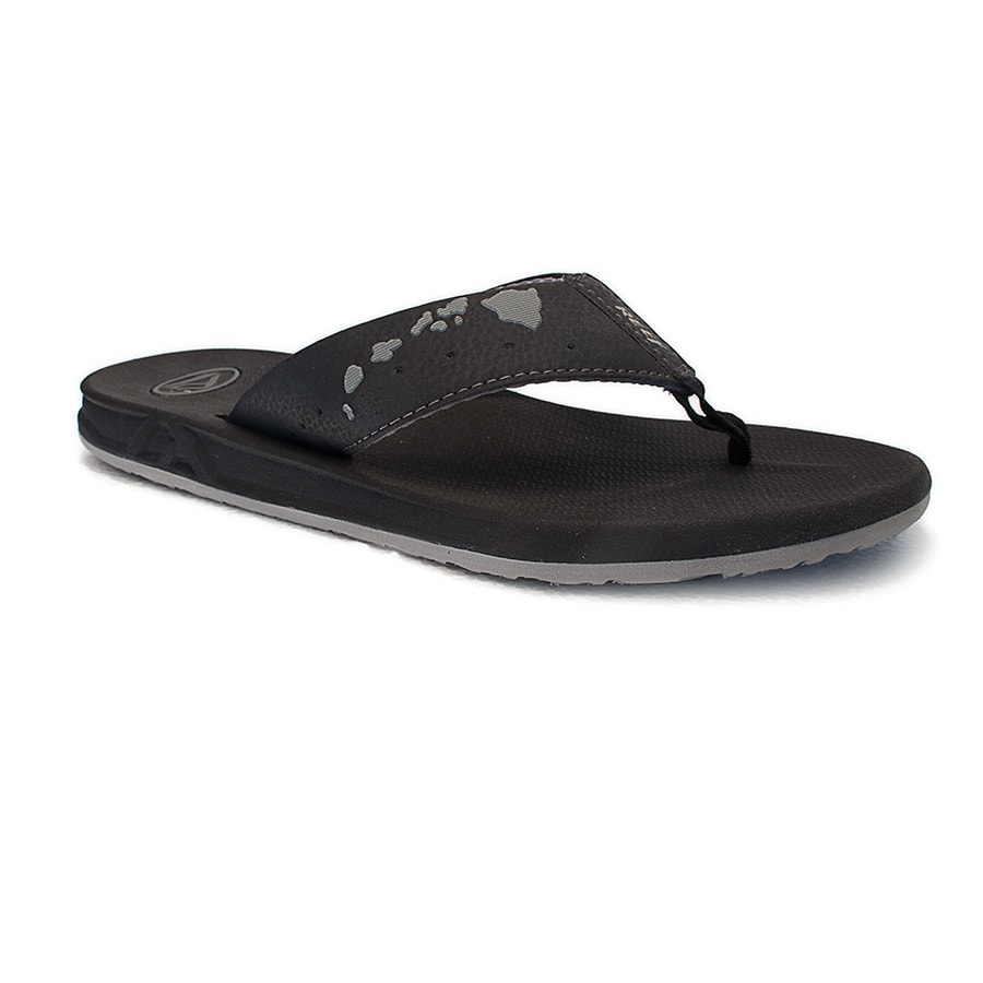 Sanuk Sandle Black Hawaiian Islands