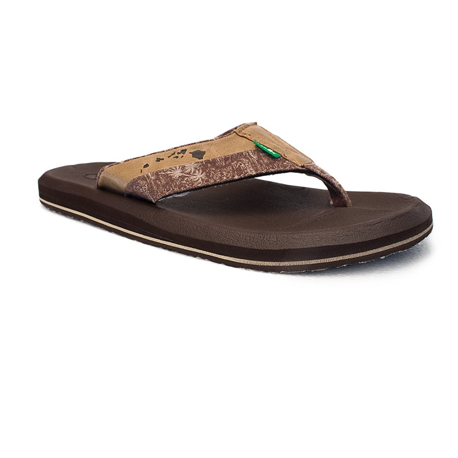 Sanuk Sandle Brown Hawaiian Islands