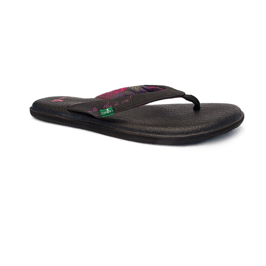 Sanuk Women's Sandle Black Hawaiian Islands