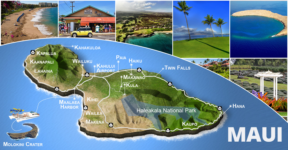Airports In Maui Hawaii Map.Maui Island Map Driving Beaches Haleakala Hana Kaanapali More