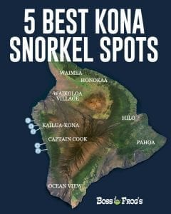 5 Best Kona Snorkel Spots - Mobile Map
