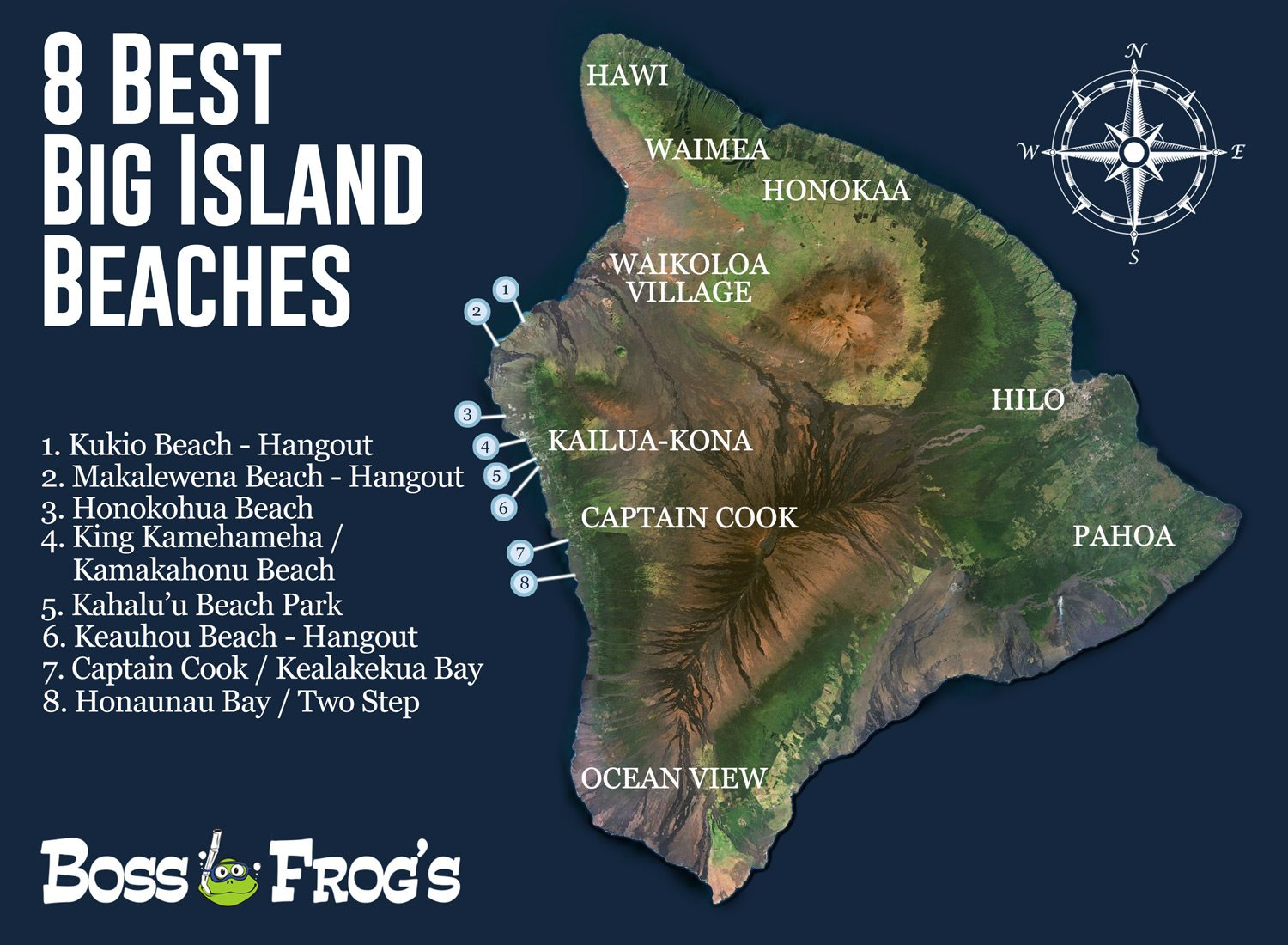 5 Best Kona Snorkeling Spots - Boss Frogs | Snorkel Gear ... Captain Cook Monument Trail Map on mauna kea trail map, glenwood trail map, hawaii volcanoes national park trail map,