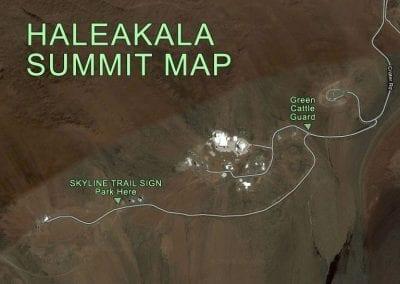 Haleakala Summit Map Bike Trail