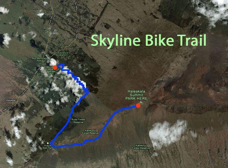 Skyline Bike Trail Maui