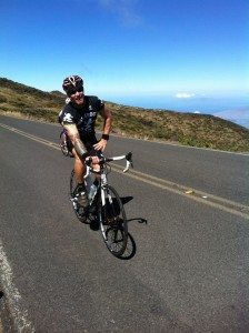 Chris on Boss Frog's Road Bike Maui