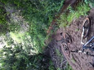 Old Aquaduct on Maui mountain biking trail Horseskull