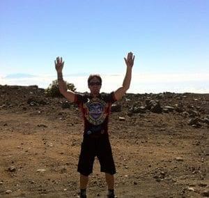 Haleakala Summit just before my epic Skyline Mountain Bike Trail ride.