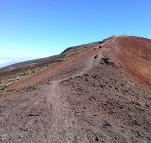 Upper portion of the Haleakala Skyline Mountain Bike Trail.