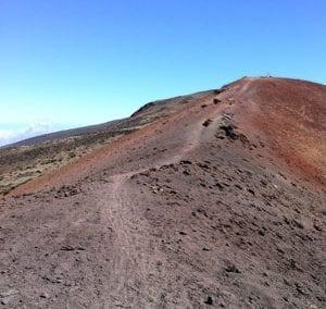 Upper portion of the Haleakala Skyline Mountain Bike Trail.