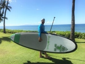 Moving the Paddle Board