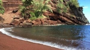 Red Sand Beach in Maui