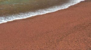 Red Hawaii sand