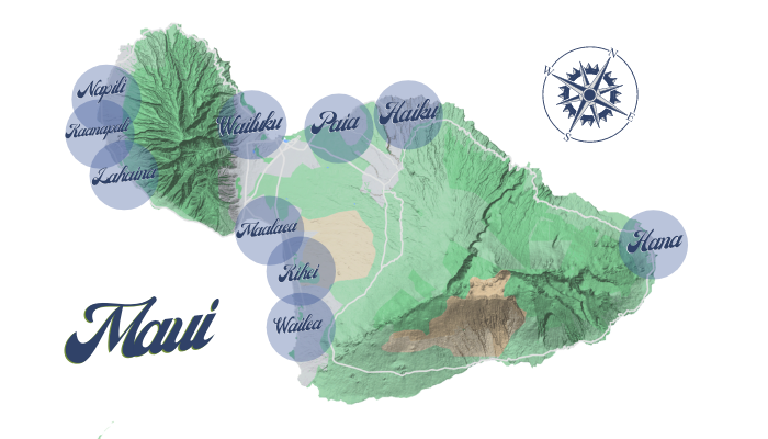 Where To Stay on Maui_Map